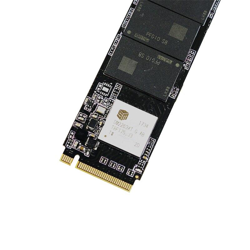 Nova KingSpec SSD de 2280 milímetros PCI-e Sinal Gen3.0x4 NVMe M2 1TB Disco Rígido Interno HD SSD M.2 1TB disco Rígido para Macbook Air 2013