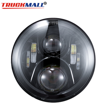 """7"""" LED H4 Motorcycle Headlight  Headlamp For Heritage Softail Classic"""