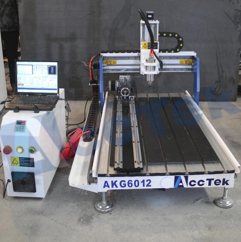 cheap price portable wood cnc router cnc lathe machine AKG6012 for Craft Gift making cheap enconomic cnc lathe 3d model for cnc