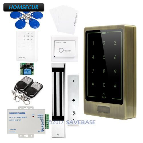HOMSECUR Green Bronze Stylish RFID Access Control System With 280kg Magnetic Lock + Doorbell все цены