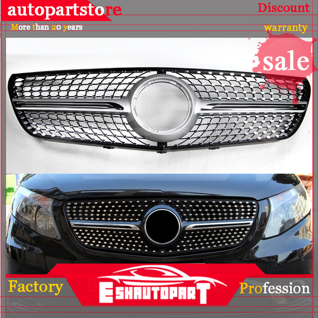 2017 Abs Car Front Grill Net For Mercedes Benz Vito 2014 2015 2016