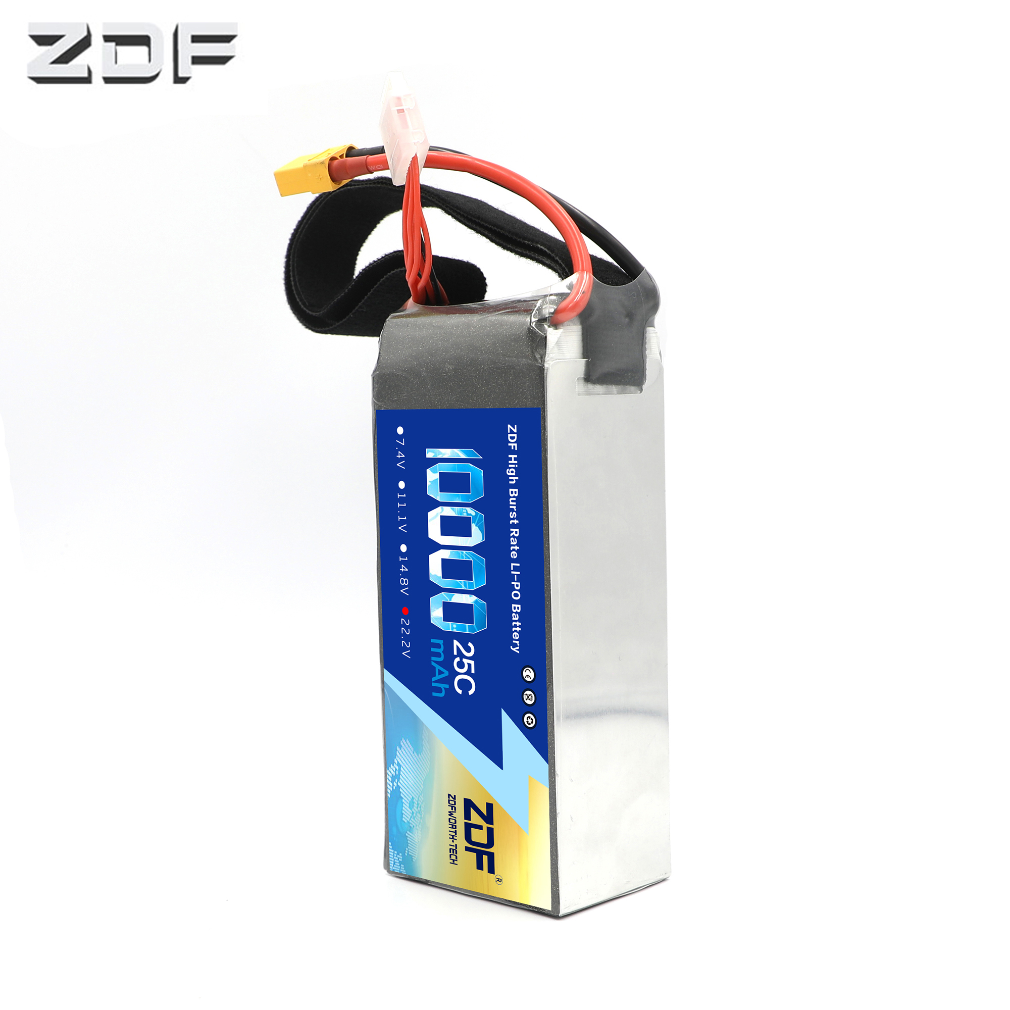 2019 ZDF Power RC LiPo Battery 6S 22.2V 10000mAh 25C Max 50C For UAV Multi-rotor Quadcopter Airplane Boat Car FPV Truck Drone2019 ZDF Power RC LiPo Battery 6S 22.2V 10000mAh 25C Max 50C For UAV Multi-rotor Quadcopter Airplane Boat Car FPV Truck Drone