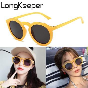 LongKeeper Oversized Round Sunglasses Women Luxury Cat Eye Sun Glasses Fashion Ladies Travel Eyewear Shades UV400 Gafas