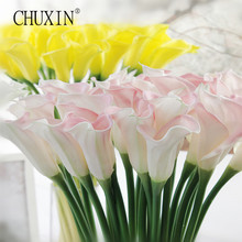 High quality 5pcs/lot real touching calla lily flower artificial flore home hotel table dercoration flower party accessory
