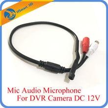 CCTV мини микрофон для аудио pick up в широком диапазоне камера Микрофон Аудио Микрофон безопасности DVR системы DC 12 В