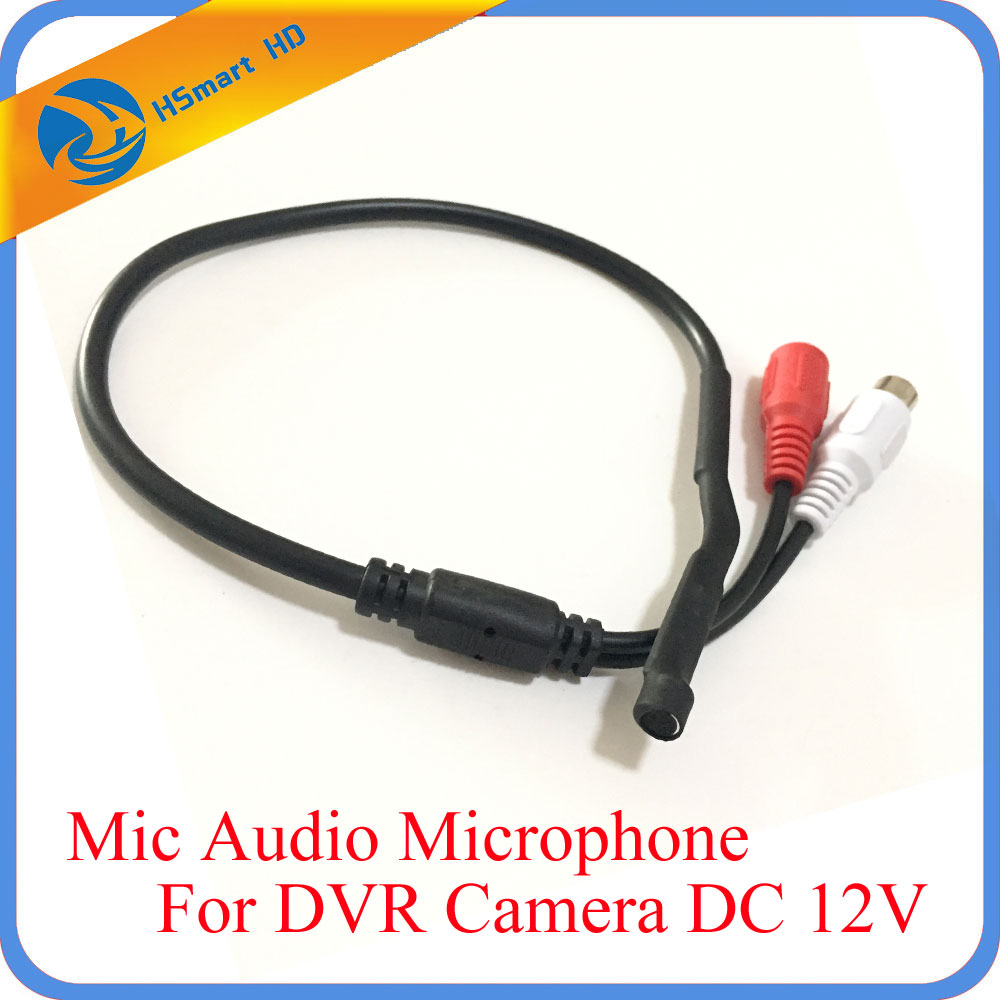 все цены на CCTV Mini Microphone for Audio pick up in Wide Range Camera Mic Audio Microphone Security DVR system DC 12V