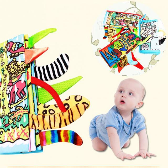 US $4 31 |Hot New Infant children Early development soft cloth books  learning education unfolding activity book on Aliexpress com | Alibaba Group