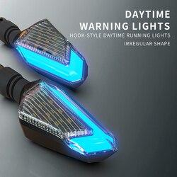 Дух зверя мотоцикл сигнальные огни рулевого управления Мотоцикл аксессуары LED поворотов дневного света яркость Arrowhead лампа