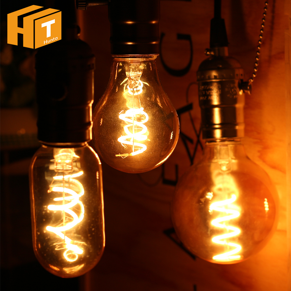 Led Filament Bulb Edison E27 4w T45 St64 T60 G80 G95 G125 Fireworks 220v Home Garden Bar Decorative Light Bulb Strengthening Sinews And Bones