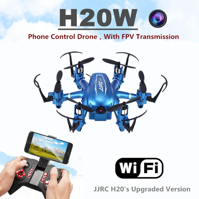 Jjrc H20W Wifi FPV Quadcopters con Cámara HD RC Mini Aviones No Tripulados 6 Axis Rc Vuelo Dron Helicóptero Helicópteros de Control Remoto Juguetes Nano