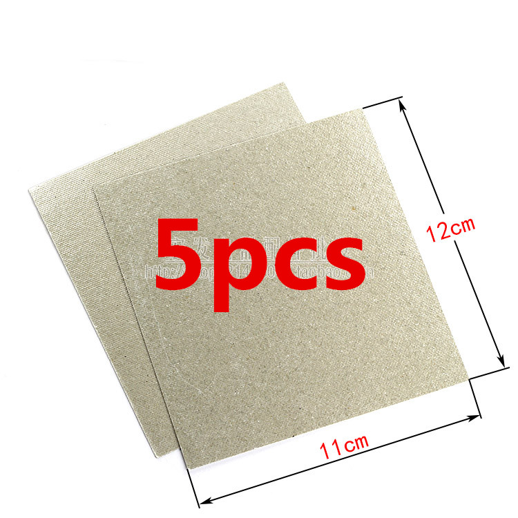 5pcs Spare parts for microwave ovens mica microwave12*11cm mica sheets for Galanz Midea Panasonic magnetron cap midea microwave genuine original microwave oven magnetron for midea witol 2m219j magnetic tube disassemble 9 into a new 5 microwave ovens mica