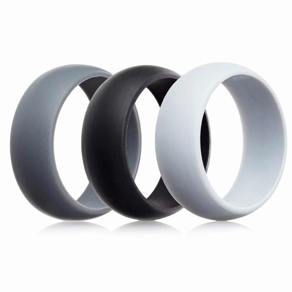 Rubber Wedding Rings.3pcs Lot Mens Hypoallergenic Rubber Wedding Bands Silicone Rings Sets Sporty Finger Rings Crossfit Flexible Women S Jewelry Jz26