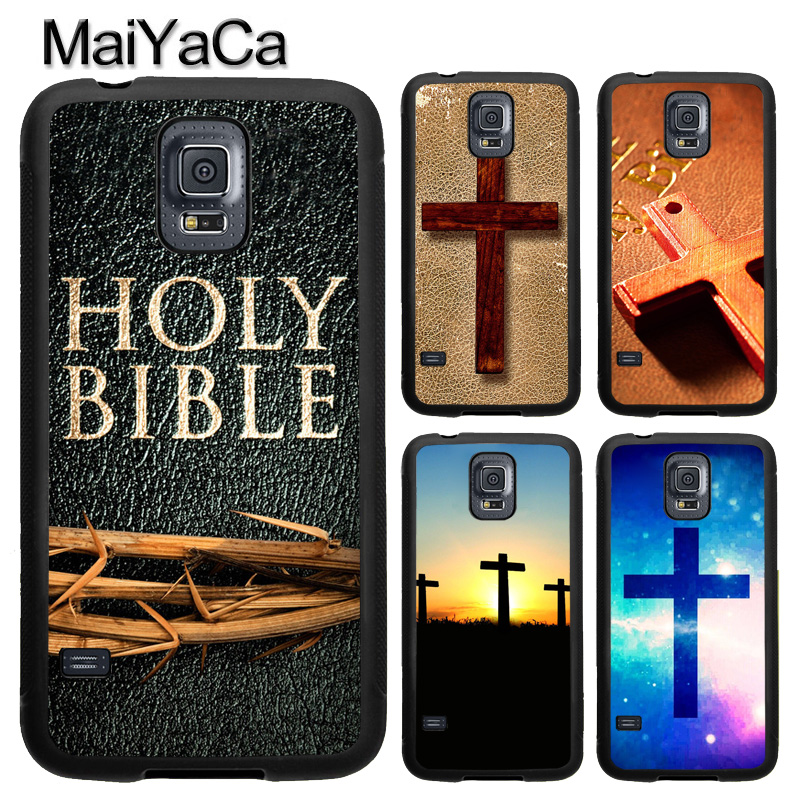 MaiYaCa The Jesus Christ Cross Holy Bible Case For Samsung Galaxy S8 S9 Plus S5 S6 S7 edge Note 8 Note 5 Soft Rubber Back Cover