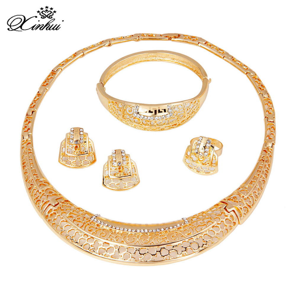 Bridal classics necklace sets mj 259 - African Women Party Wedding Bridal Accessories Huge Vintage Fashion Indian Jewelry Set China Mainland