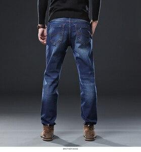 Image 5 - Irmão wang roupas masculinas anti roubo zíper jeans 2020 nova moda casual em linha reta algodão elástico tamanho grande marca masculina jean