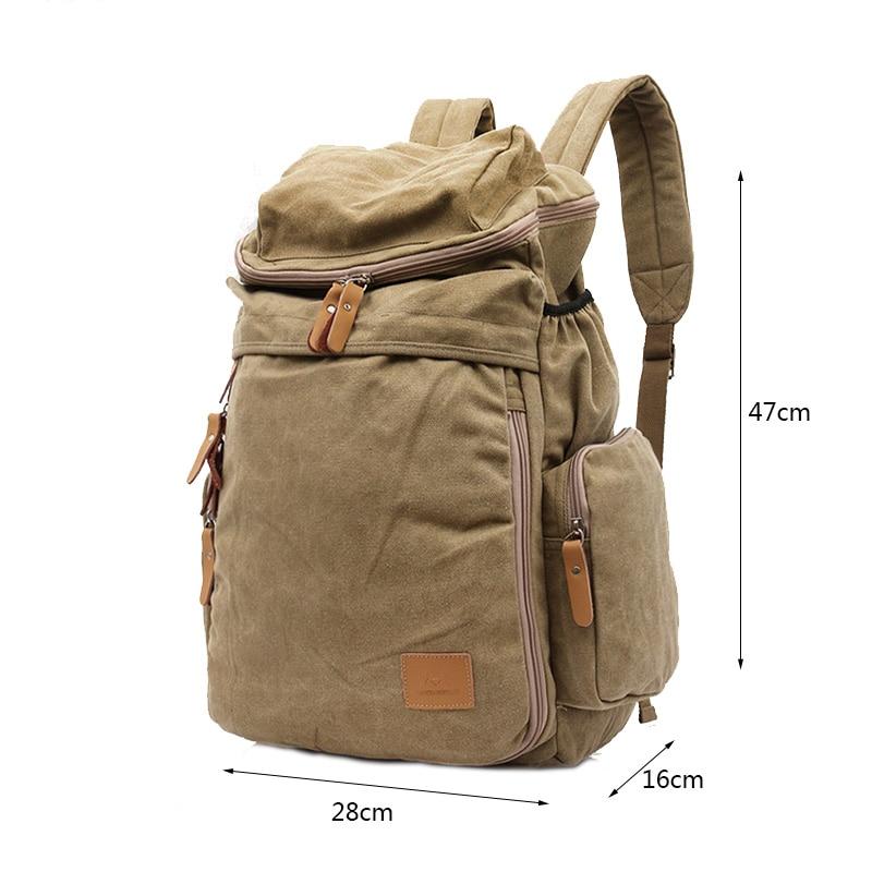 4cf2ebcf5e7d MANJIANGHONG Brand Fashion men s school backpack Men Vintage large capacity  Laptop backpack Designer canvas travel bag notebook-in Backpacks from  Luggage ...