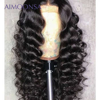 Loose Wave Wig Glueless Full Lace Wigs 180 Density Black Wig For Women Human Hair With Baby Hair Natural Wig Remy Hair Aimoonsa - DISCOUNT ITEM  44% OFF All Category