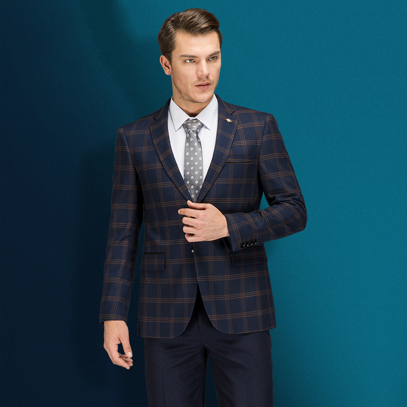 2018 nouveaux hommes d'affaires Blazer coton Slim costume formel Blaser Masculino haute qualité homme veste Blazer hommes taille S-5XL