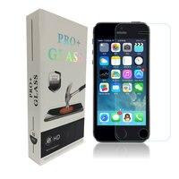 10 pcs 0.26mm Meilleur prix Ultra Mince HD Effacer Anti-Déflagrant Écran En Verre Trempé Protector Films pour iPhone 5 5S