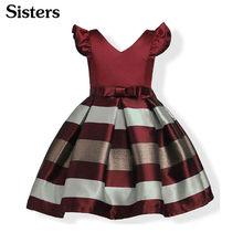 1a456160c189b SISRERS robes pour filles Europe été filles robe rayures Cuhk enfant fille  vêtements princesse robe de