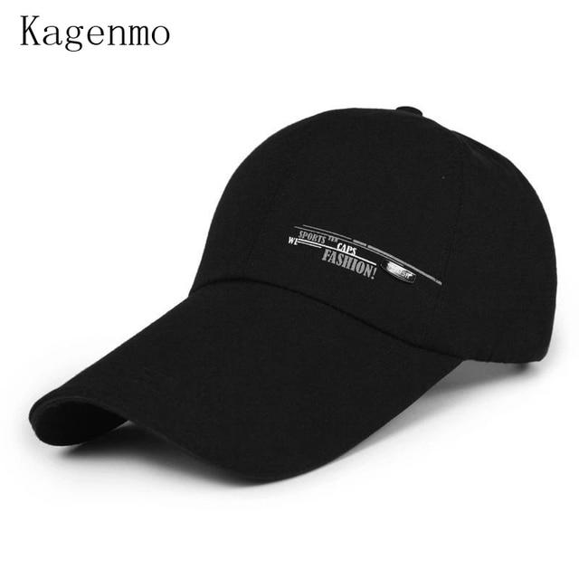 7d89477c801 Kagenmo Summer And Autumn Male Caps Sunscreen Long Brim Man Baseball Cap  Outdoor Fishing Hat Leisure