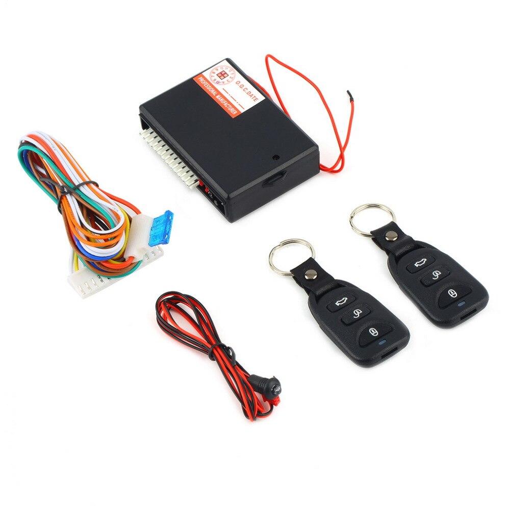 Sistema de alarma de coche Universal Kit de Control remoto automático de bloqueo de puerta para vehículo sistema de entrada sin llave bloqueo Central con Control remoto