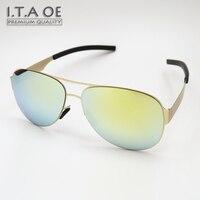 ITAOE M'K Pilot Projektowanie Mody Lustro Okulary UV Ze Stali Nierdzewnej 400 Mężczyzna Kobiet Unisex Okulary Ramki Okulary Okulary