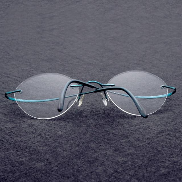 Clearance Sale Items Rimless Glasses Frame Men Memory Myopia Optical ...