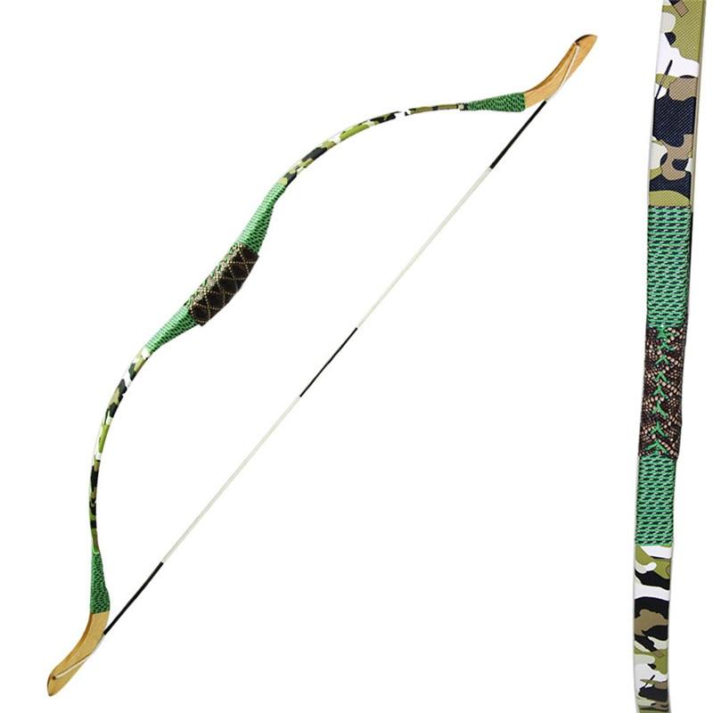 Memanah Bow Recurve Kanak-kanak Tradisional / Kanak-kanak Sukan Luar Permainan Sling Shot Camo Tunduk Kayu untuk Menembak