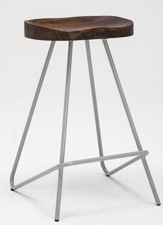 Contracted solid wood stool industrial wind restoring ancient ways is the bar stool steel bar chair