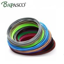FreeShipping Bapasco 10Pieces/lot 3D Printer ABS Filament 5M/pcs 10 Color 1.75mm PLA 3D Print Filament For 3D Printer Or 3D Pen