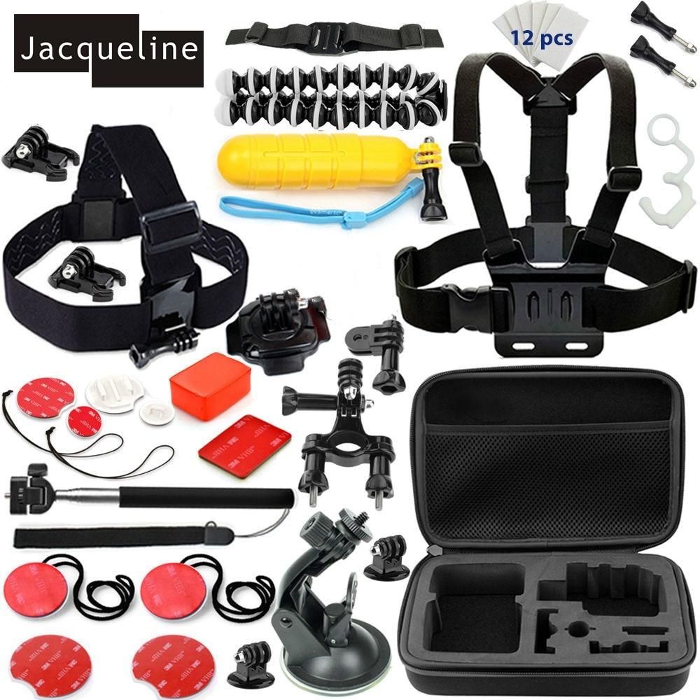 Jacqueline til Tilbehør Outdoor Bundle Kit Set til Gopro Hero HD 6 5 - Kamera og foto - Foto 1