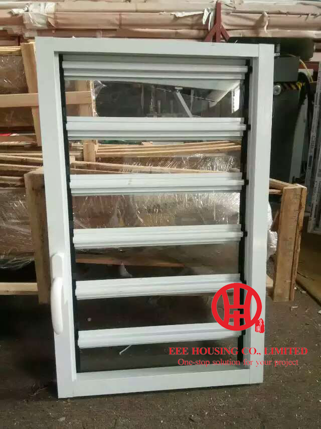 Aluminum Louvre Windows Perfect For High-rise Apartments, Hurricane-proof Glass Louvre Windows, China Glass Louver Window