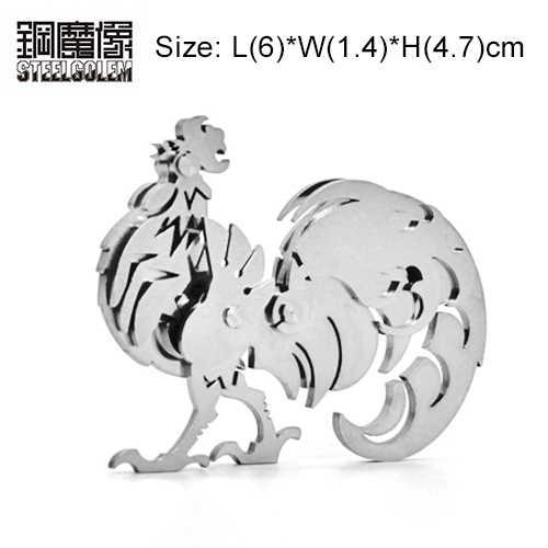 LION/Kuda/Tiger 12 Zodiak Cina 3D Logam Puzzle Model Manual Perakitan Dewasa Kuds Mainan Pendidikan Secara Kolektif Desktop kerajinan