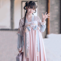 Hanfu Women Chinese National Dance Costume Embroidery Stage Wear For Singers Oriental Performance Clothing Folk Outfit DC1831