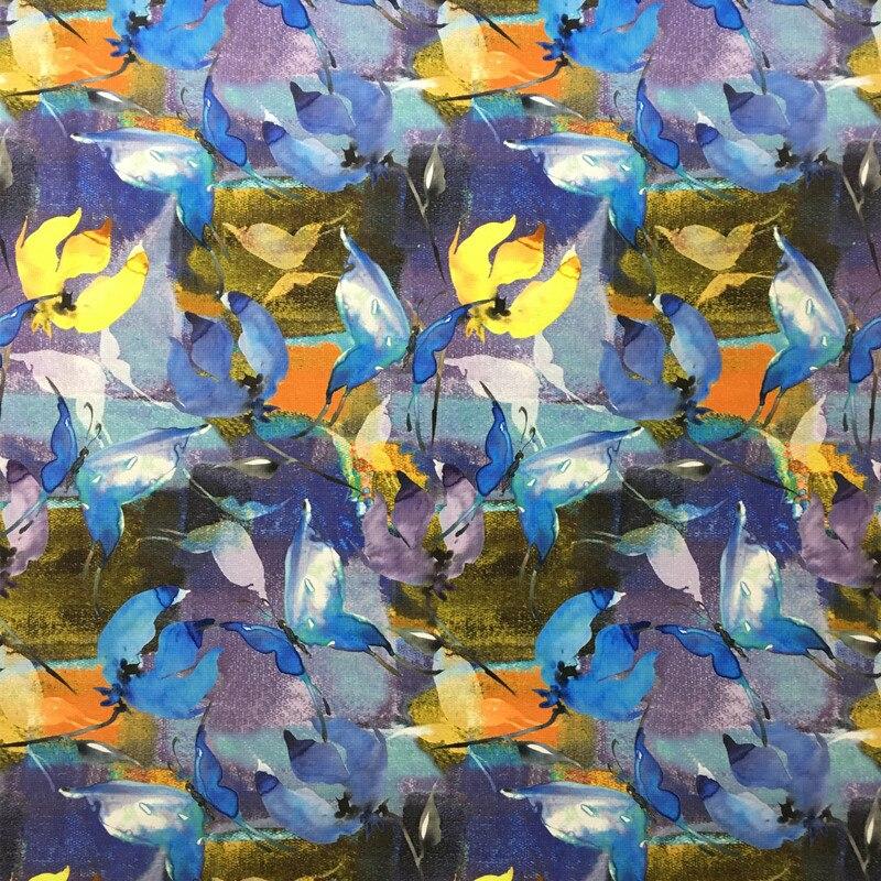 Velours Tissu Imprimé Numérique Moderne