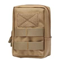 Nice! Outdoor Tactische Molle Zak 600D Nylon Pouch Draagbare Mobiele Telefoon Portemonnee Reizen Militaire Sport Taille Verpakking nx(China)