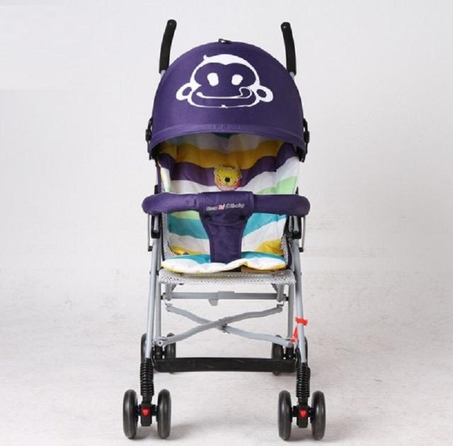 Nueva Luz cochecito de Bebé de Cuatro Ruedas de Embarque Plegable Niños Carro Cochecillo Cochecito Cochecito Cochecito de Bebé de Coche de Niño 0-3 años