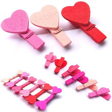 12Pcs Mini Heart Love Wooden Clothes Photo Paper Peg Pin Clothespin Craft Clips Nov25 Extraordinary