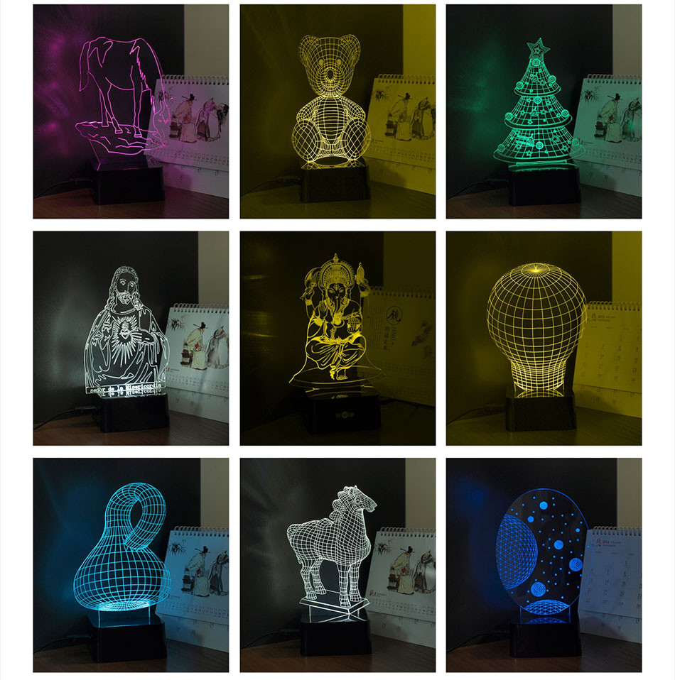 CNHIDEE New Novelty Star Wars BB-8 3D Night Lamp 7 Colors Changeable LED Besides Lampara Reading Lights as Home Decor Desk Lampe (7)