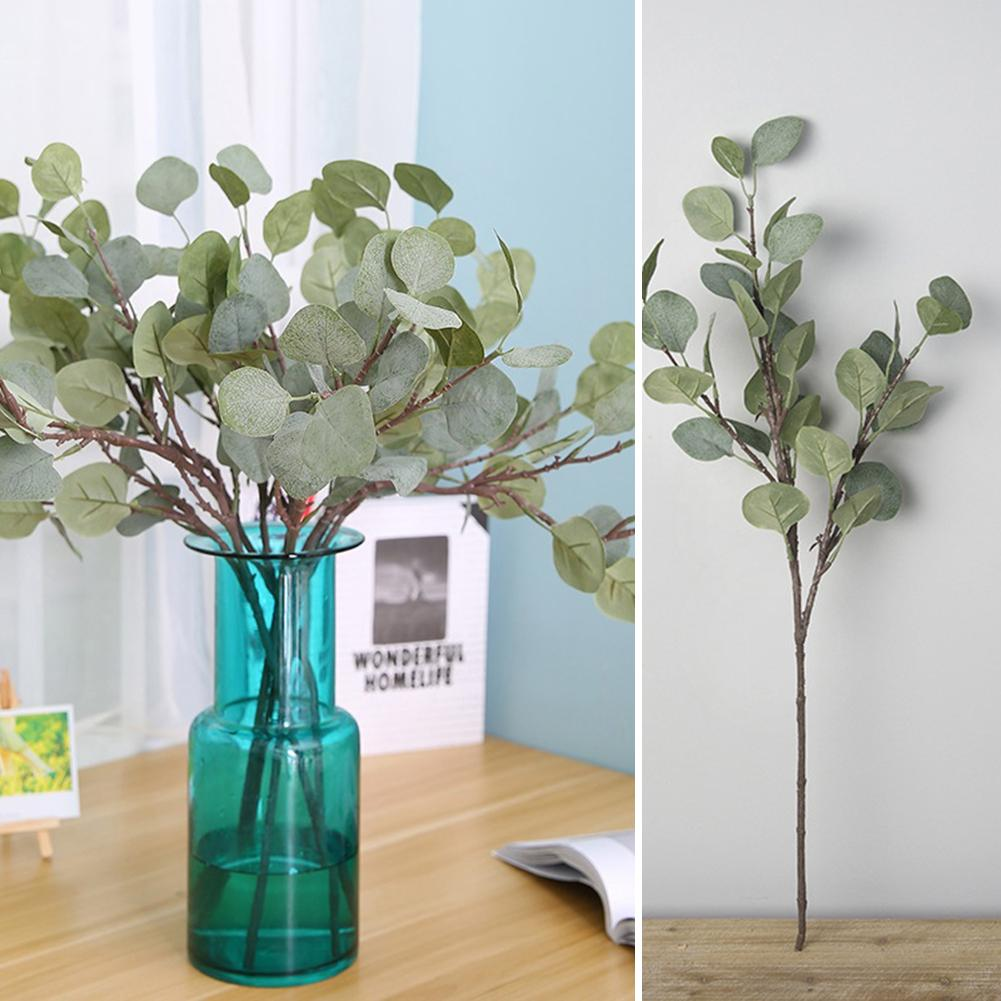 POP ITEM! 1Pc Fake Eucalyptus Greenery Home Office Decor Green Plant DIY Bridal Bouquet Wreath Artificial Greenery For Weddings