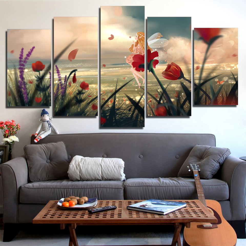 HD Printed Pictures Framework Wall Art Modern Canvas 5