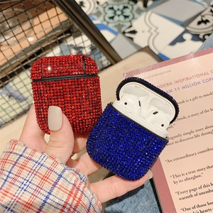 Image 4 - Luxury Diamond Earphone Rigid Hard Protector Cover For Apple Airpoads 1st 2nd Bluetooth Wireless Earphone Case Charging Box