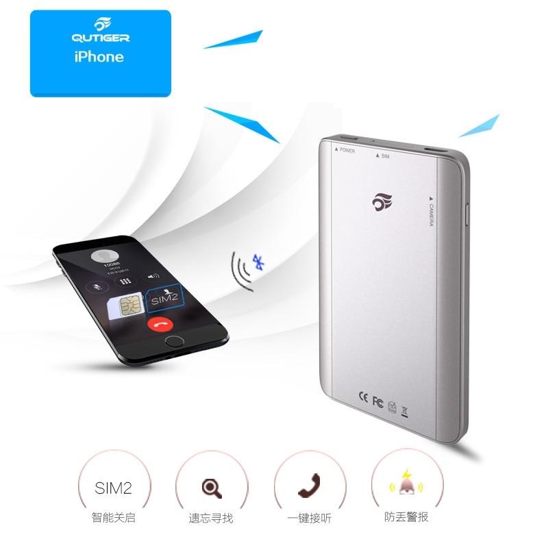 Bluetooth Portable 4.0 double carte intelligente double veille Micro adaptateur de carte SIM pour iphone iPad ipod Touch pour système iOS7.1 ci-dessus