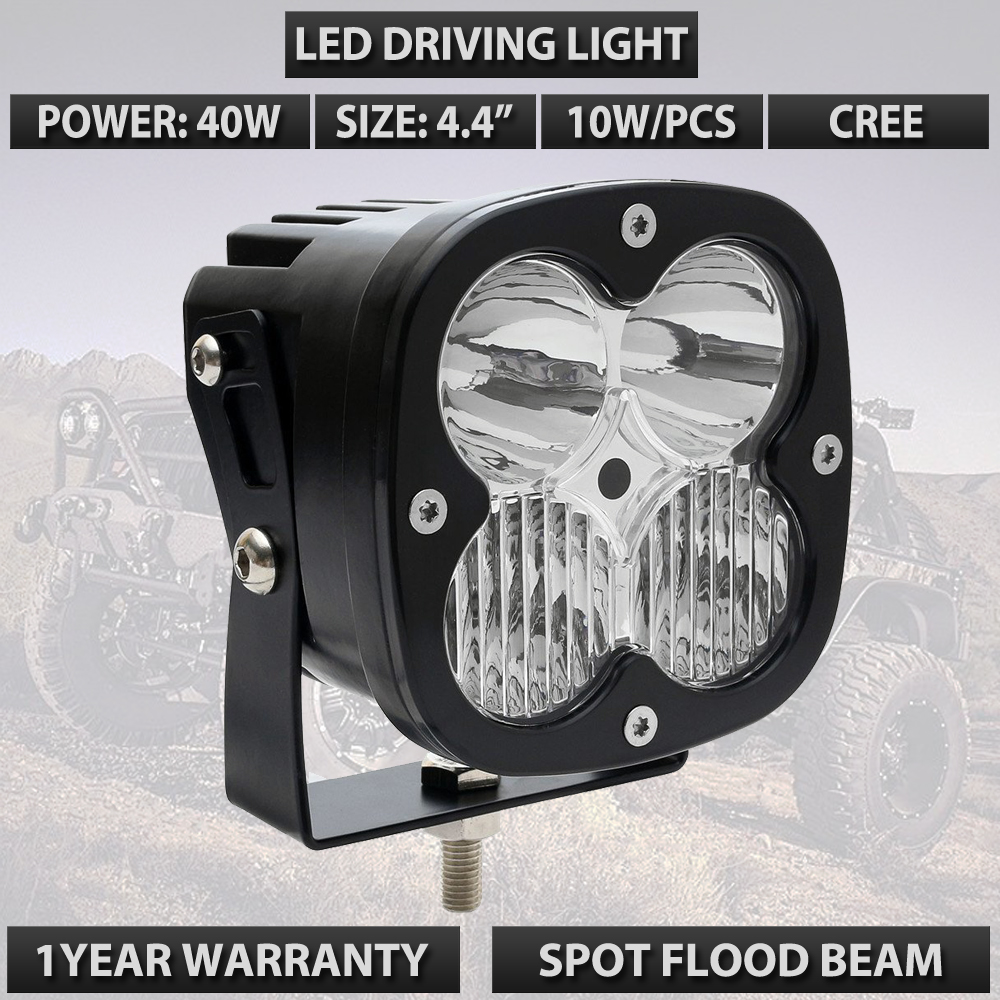 40w LED WORK LIGHT 4.4INCH LED TRUCK DRIVING OFFROAD LIGHT USED FOR CAR TRUCK SUV ATV UTV UTE 12V 24V LED DRIVING LIGHTS X1PC