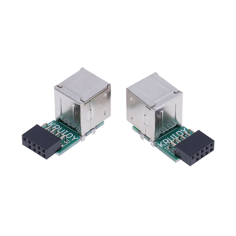 1pc Internal Motherboard 9pin To 2 Port USB 2.0 A Female Adapter Converter PCB Board