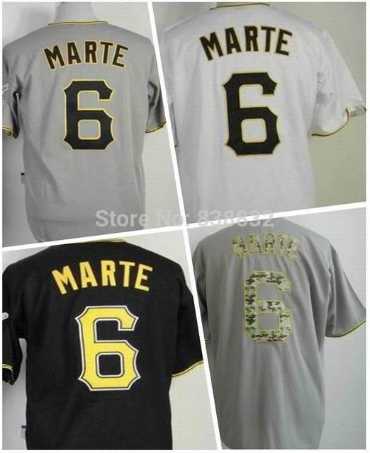edd2eee6301 ... coupon cheap starling marte jersey 6 pittsburgh mens baseball jerseys  new cool base white gray black