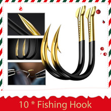 10pcs/Lot Fishing Hooks Fishhooks Fishing Accessories Supplies Lures Carp Fishing Tackle Barbed Colored Tungsten Alloy 15 Sizes(China)