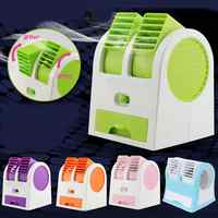Mini USB Small Fan Cooling Portable Desktop Dual Bladeless Air Conditioner