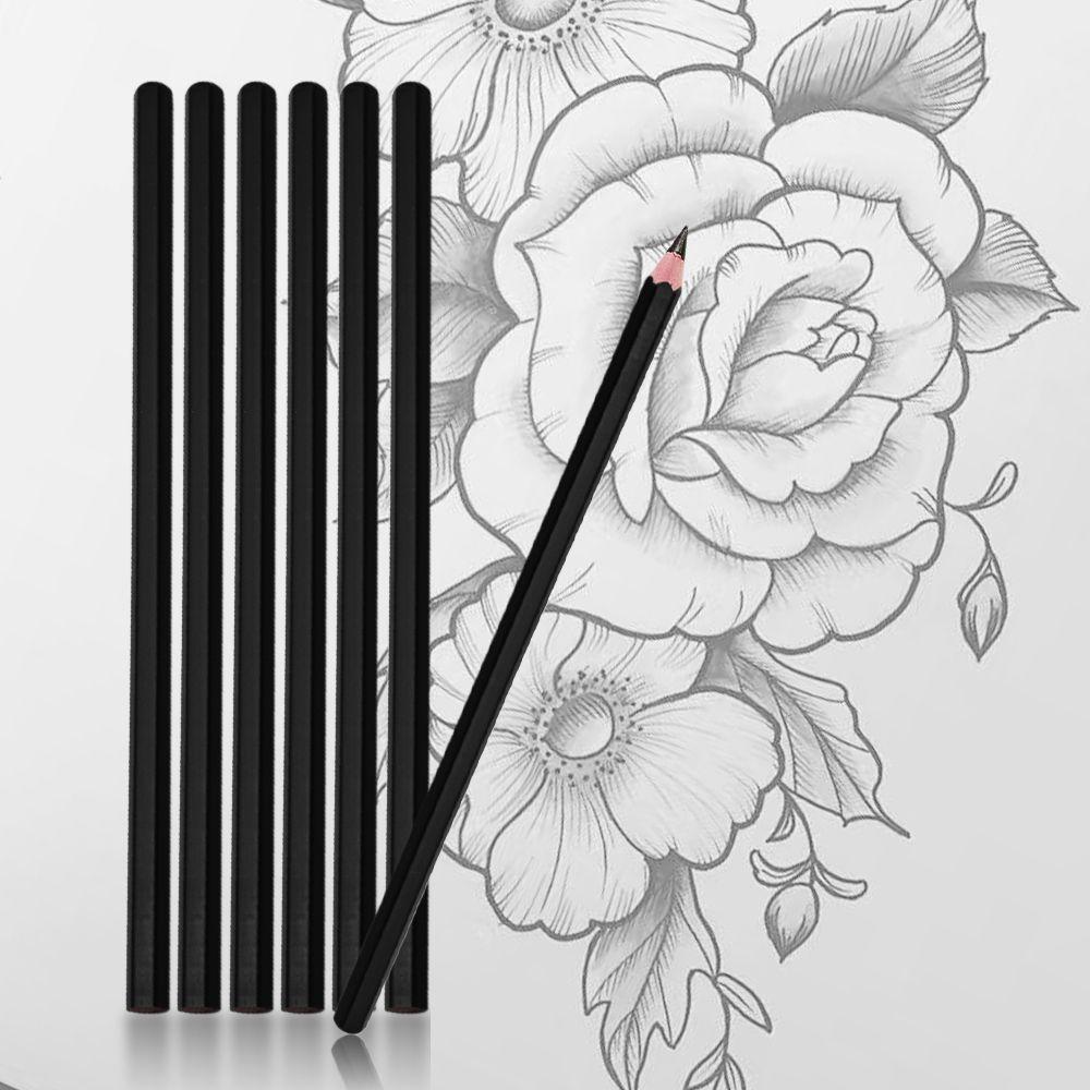 Permanent Sketch Book: 12pcs Manuscripts Pen 4B Hand Painted Pencil For Tattoo